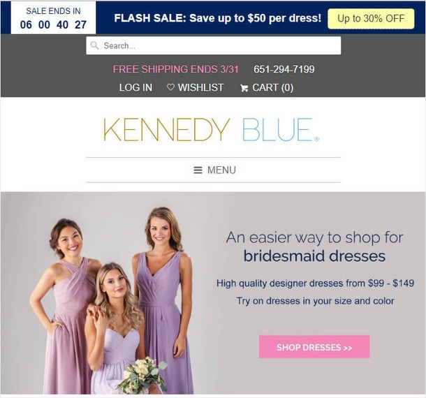 Kennedy Blue Floating Bar Example